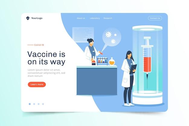 Pagina di destinazione per lo sviluppo del vaccino contro il coronavirus