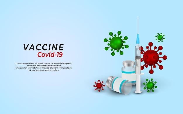 Vaccino contro il coronavirus pandemia covid19 focolaio sanitario e concetto medico
