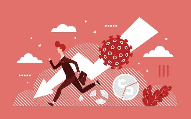 Il virus del coronavirus ha un impatto sulla crisi aziendale globale