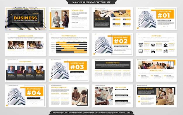 Modello di layout aziendale powerpoint stile premium