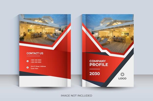 Modello di progettazione di copertina del libro a4 aziendale