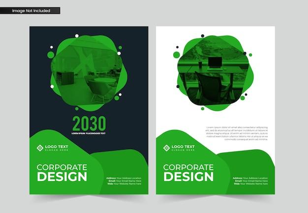 Progettazione di copertina del libro aziendale a4 aziendale e modello di relazione annuale e brochure