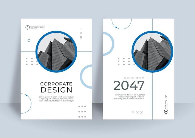 Sfondo astratto aziendale modello di progettazione copertina del libro di affari.
