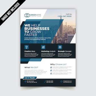 Modello di brochure aziendale pieghevole pieghevole