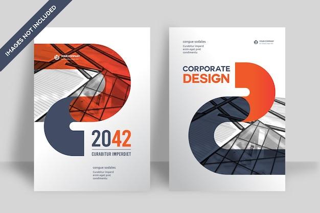 Modello di progettazione di copertina del libro aziendale in formato a4. può essere adattato a brochure, relazioni annuali, riviste, poster, presentazioni aziendali, portfolio, volantini, banner, siti web.