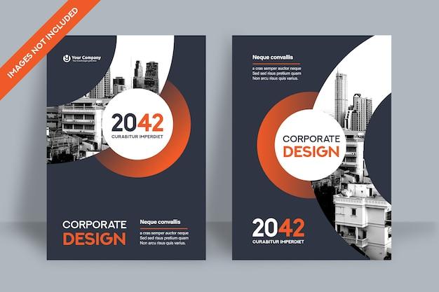 Modello di progettazione della copertina del libro aziendale in a4.
