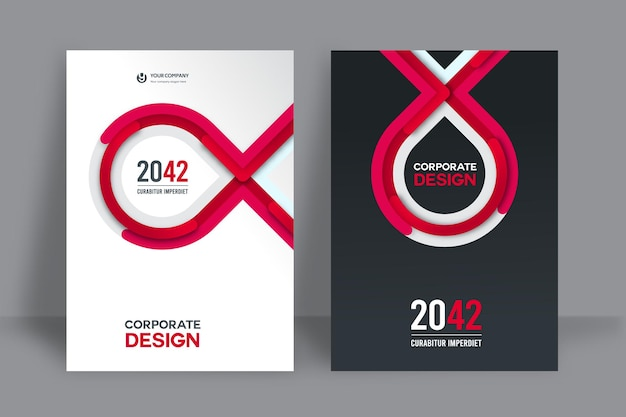 Modello di progettazione copertina libro aziendale in a4.