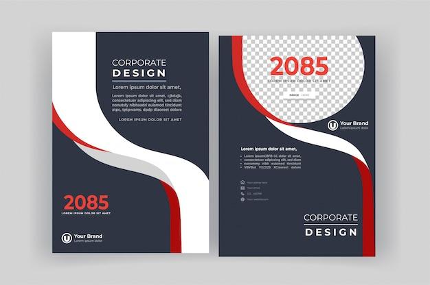 Modello di progettazione copertina del libro aziendale. Vettore Premium