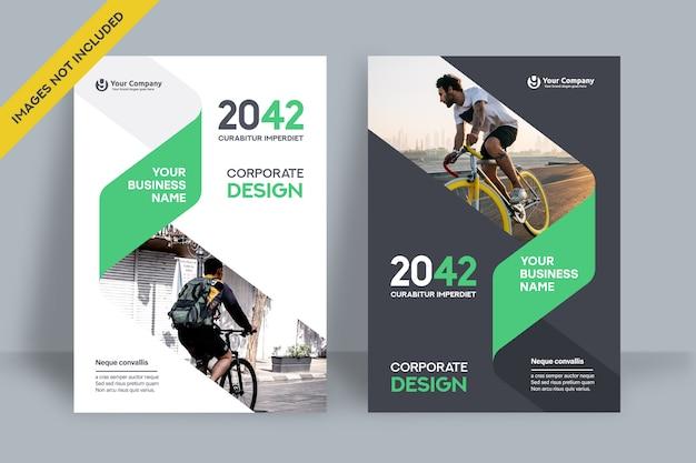 Modello di progettazione di copertina del libro aziendale.