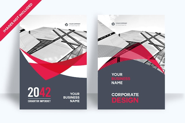 Modello di progettazione copertina del libro aziendale