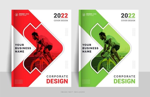 Modello di progettazione di copertina del libro aziendale