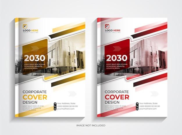 Design del modello di copertina del libro aziendale