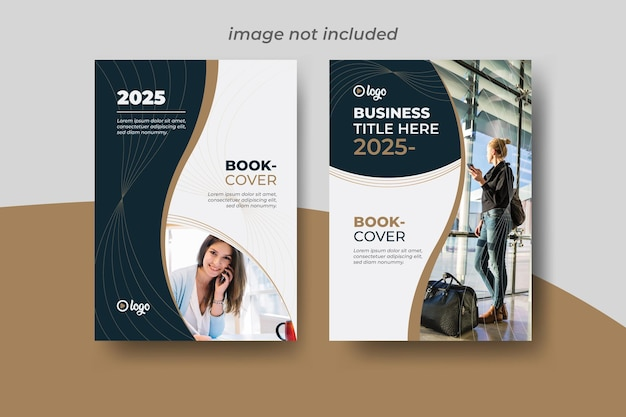 Modello di vettore di copertina del libro aziendale Vettore Premium