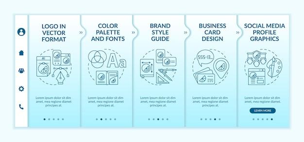 Modello di onboarding dei servizi di branding aziendale