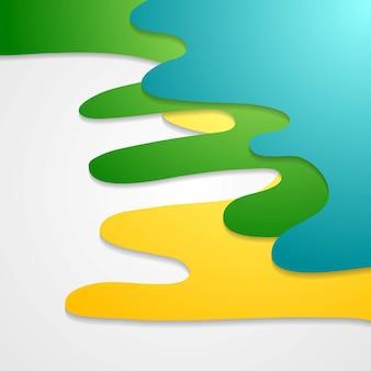 Fondo astratto ondulato luminoso corporativo. design moderno vettoriale