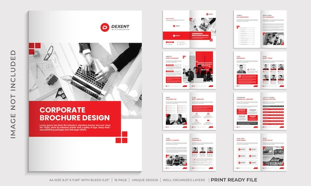 Modello di progettazione brochure aziendale, modello di brochure profilo aziendale