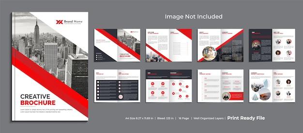 Modello di brochure aziendale, design modello di brochure multipagina