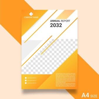 Modello di relazione annuale aziendale Vettore Premium
