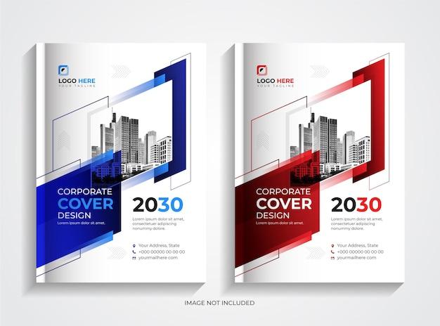 Set di modelli per la progettazione di copertine di libri aziendali aziendali