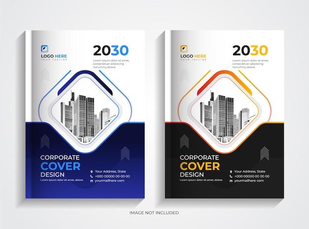 Modello di progettazione di copertina del libro aziendale aziendale