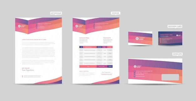 Corporate business branding identity design o design di cancelleria o biglietto da visita di carta intestata