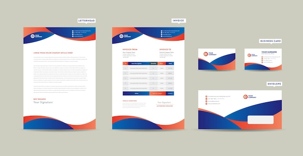Corporate business branding identity design o stationery design o carta intestata