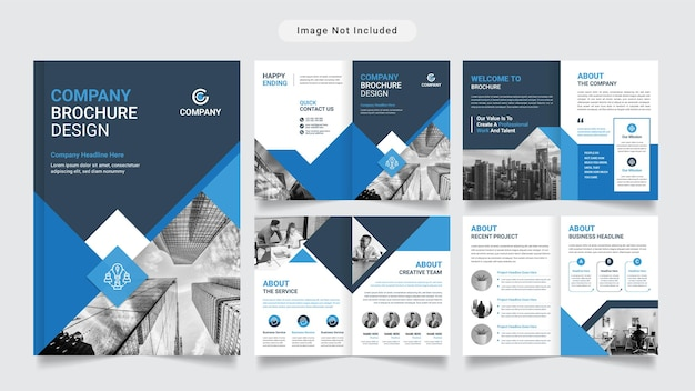 Modello vettoriale premium per brochure aziendale o profilo aziendale
