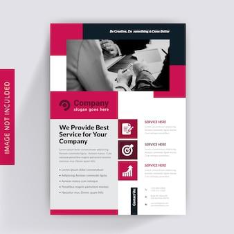 Progettazione dell'opuscolo di affari corporativi