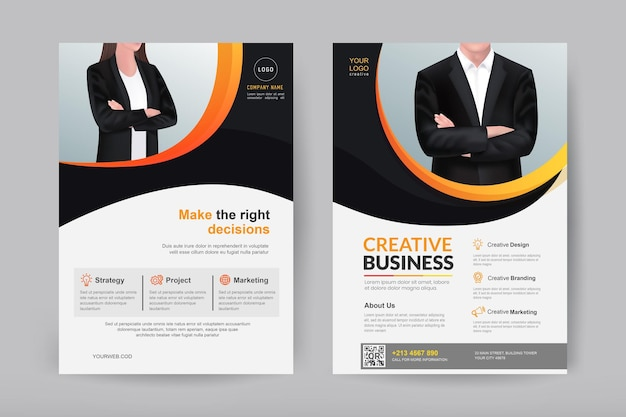 Progettazione di brochure e volantini aziendali aziendali