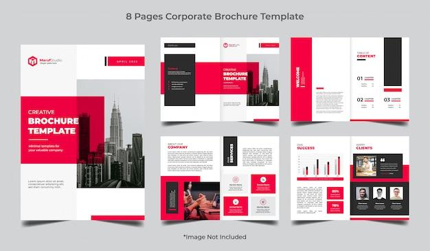 Modello dell'opuscolo di affari corporativi