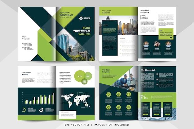 Modello di brochure aziendale aziendale.