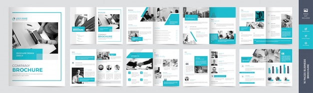 Modello brochure - affari corporativi