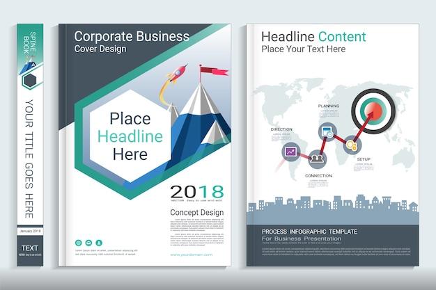 Modello di progettazione del libro copertina aziendale