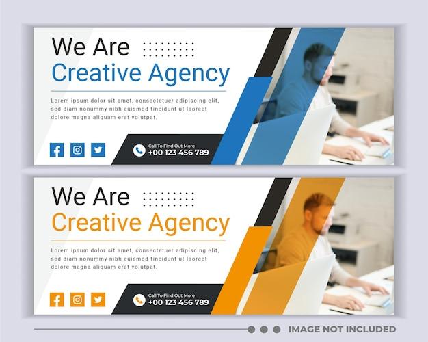 Modello di banner di social media di copertura aziendale aziendale
