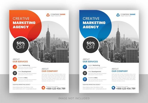Volantino di agenzia di marketing digitale aziendale Vettore Premium