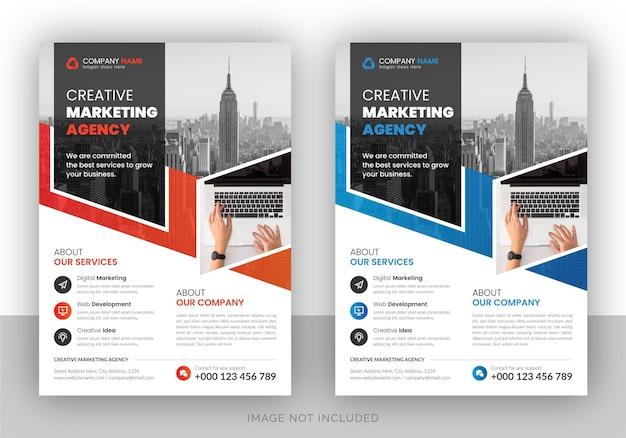 Volantino di agenzia di marketing digitale aziendale