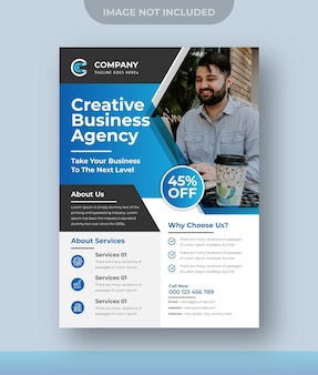 Agenzia di marketing digitale per la progettazione di volantini aziendali aziendali premium vector