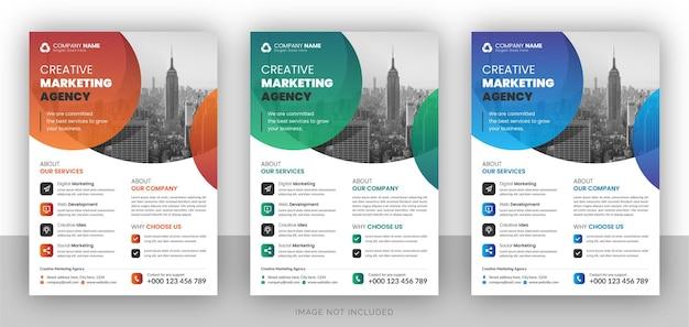 Modello di progettazione flyer aziendale Vettore Premium