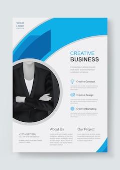 Modello di progettazione di volantini aziendali aziendali