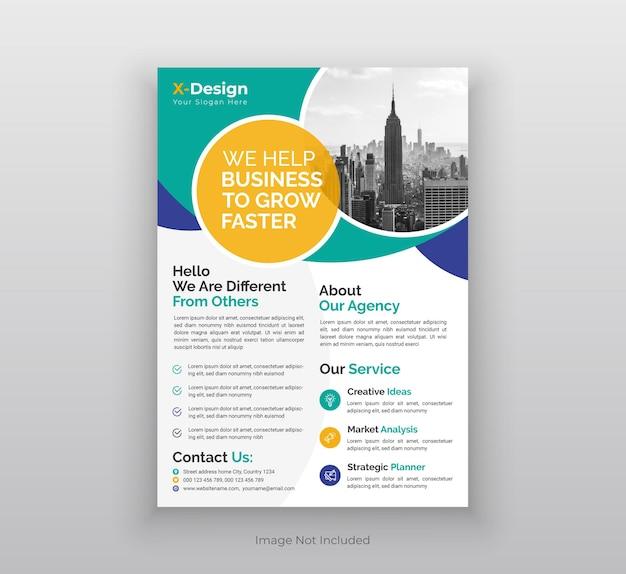 Volantino aziendale, poster, modello di layout del design della copertina dell'opuscolo