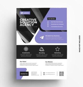 Modello di volantino aziendale aziendale brochure con foto