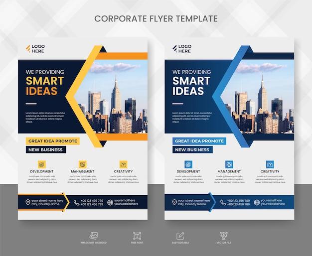Modello di volantino aziendale e aziendale