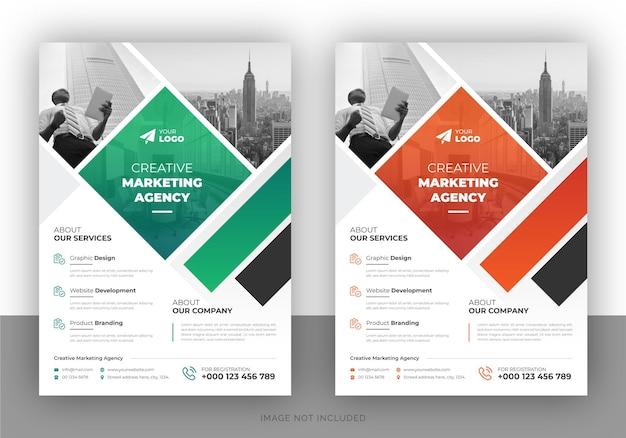 Modello di volantino multiuso per affari aziendali e modello di copertina