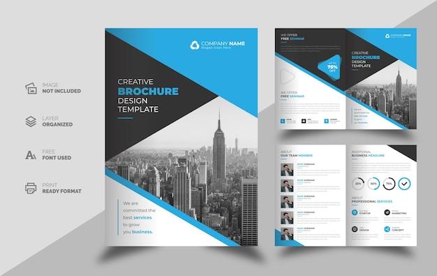 Modello di progettazione brochure semplice multiuso aziendale aziendale Vettore Premium