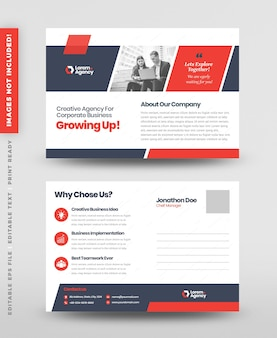 Cartolina aziendale aziendale design o save the date invitation card o direct mail eddm design