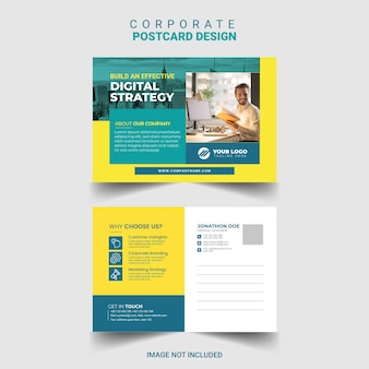 Modello di progettazione di cartoline aziendali aziendali vettoriali gratis