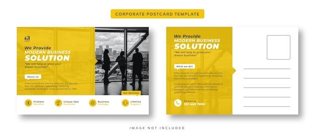 Modello di cartolina aziendale aziendale