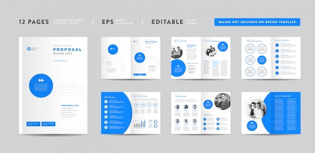 Progetto di proposta di progetto di impresa aziendale rapporto annuale e brochure aziendale progettazione di opuscoli e cataloghi