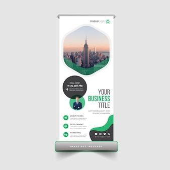 Modello di progettazione di banner roll up aziendali e aziendali