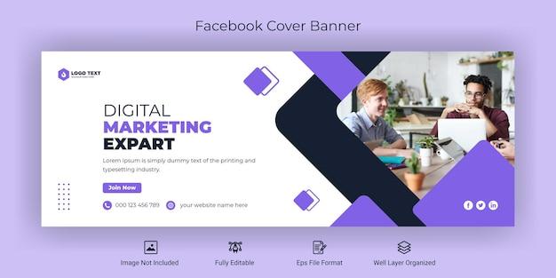 Modello di banner di copertina di facebook per social media aziendali aziendali